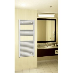 500mm Wide 1200mm High White Curved Towel Radiator