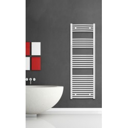 500mm Wide 1500mm High White Curved Towel Radiator