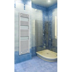 500mm Wide 1760mm High White Curved Towel Radiator