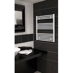 600mm Wide 800mm High White Curved Towel Radiator