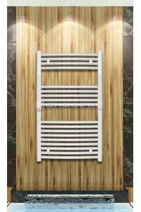 600mm Wide 1000mm High White Curved Towel Radiator