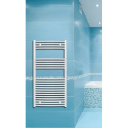 600mm Wide 1200mm High White Curved Towel Radiator