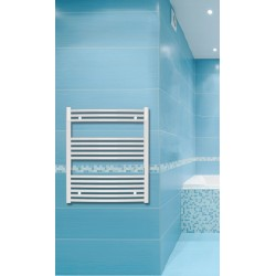 700mm Wide 800mm High White Curved Towel Radiator