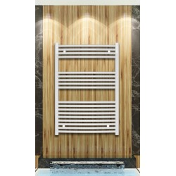700mm Wide 1000mm High White Curved Towel Radiator