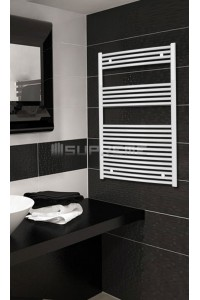 700mm Wide 1200mm High White Curved Towel Radiator
