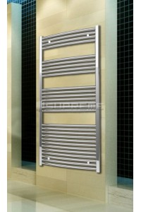 Chrome Curved Towel Radiator 700mm Wide 1500mm High