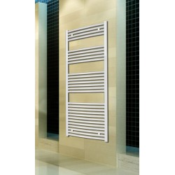 600mm Wide 1500mm High White Curved Towel Radiator