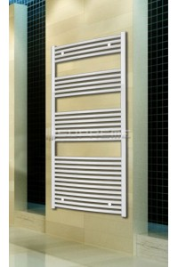 700mm Wide 1500mm High White Curved Towel Radiator