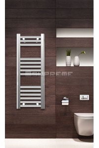 300mm Wide 800mm High Chrome Flat Towel Radiator