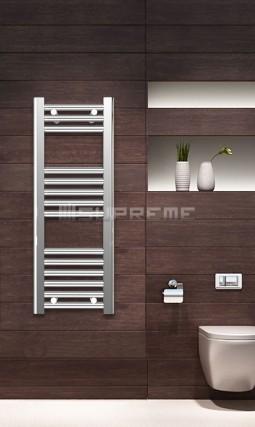 300mm Wide 800mm High Chrome Flat Towel Radiator