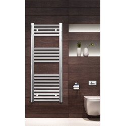 400mm Wide 1000mm High Chrome Flat Towel Radiator