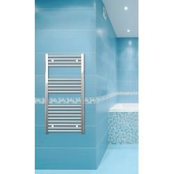500mm Wide 1000mm High Chrome Flat Towel Radiator