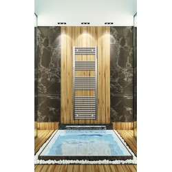 500mm Wide 1500mm High Chrome Flat Towel Radiator