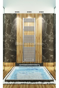 500mm Wide 1760mm High Chrome Flat Towel Radiator