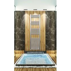 500mm Wide 1760mm High Chrome Flat Towel Radiator