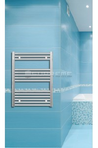 600mm Wide 800mm High Chrome Flat Towel Radiator