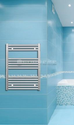 600mm Wide 800mm High Chrome Flat Towel Radiator