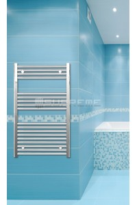 600mm Wide 1000mm High Chrome Flat Towel Radiator