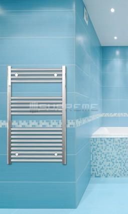 600mm Wide 1000mm High Chrome Flat Towel Radiator