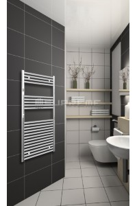 600mm Wide 1200mm High Chrome Flat Towel Radiator