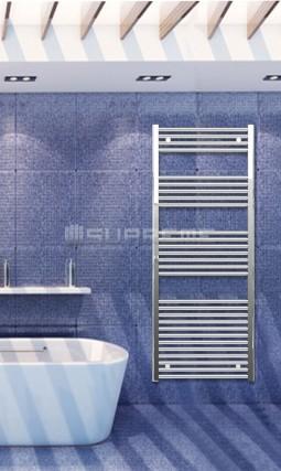 600mm Wide 1500mm High Chrome Flat Towel Radiator