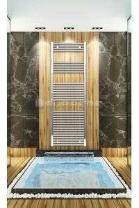 Chrome Towel Radiator 600mm Wide 1760mm High