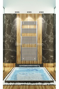 700mm Wide 1650mm High Chrome Flat Towel Radiator