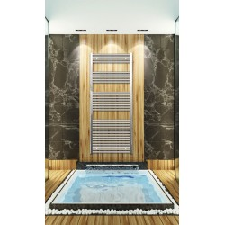 700mm Wide 1650mm High Chrome Flat Towel Radiator