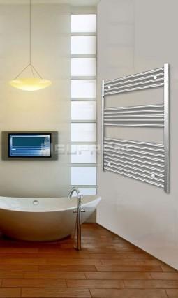 800mm Wide 1000mm High Chrome Flat Towel Radiator