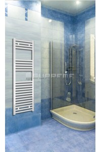 400mm Wide 1200mm High White Flat Towel Radiator