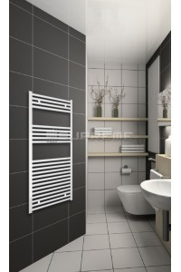 600mm Wide 1200mm High White Flat Towel Radiator