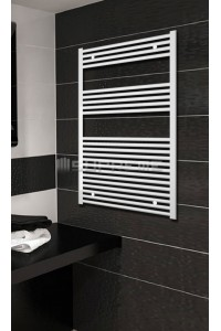 700mm Wide 1200mm High White Flat Towel Radiator