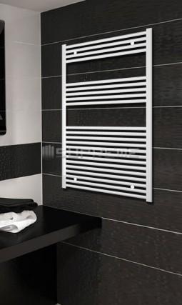 700mm Wide 1200mm High White Flat Towel Radiator
