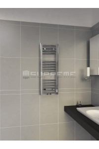300mm Wide 800mm High Middle Connection Chrome Towel Radiator