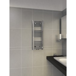 300mm Wide 800mm High Multi Connection Chrome Towel Radiator