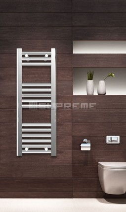 Electric Towel Radiator 300mm Wide 800mm High Chrome Flat