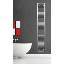 Electric Towel Radiator 300mm Wide 1760mm High Chrome Flat