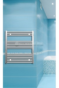 Electric Towel Radiator 700mm Wide 800mm High Chrome Flat