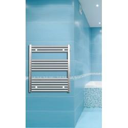 Electric Towel Radiator 700mm Wide 800mm High Chrome Flat