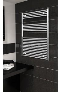 Electric Towel Radiator 700mm Wide 1200mm High Chrome Flat