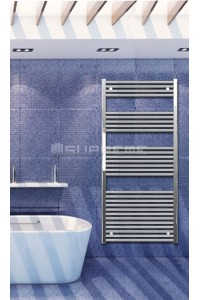 Electric Towel Radiator 700mm Wide 1500mm High Chrome Flat
