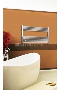 Electric Towel Radiator 800mm Wide 600mm High Chrome Flat