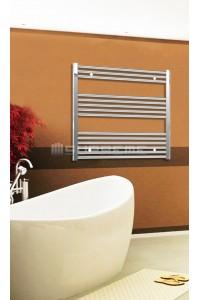 Electric Towel Radiator 800mm Wide 800mm High Chrome Flat