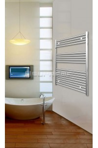 Electric Towel Radiator 800mm Wide 1000mm High Chrome Flat