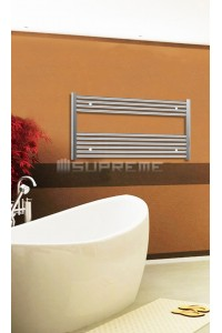 Electric Towel Radiator 1000mm Wide 600mm High Chrome Flat