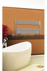 Electric Towel Radiator 1000mm Wide 600mm High Chrome Flat