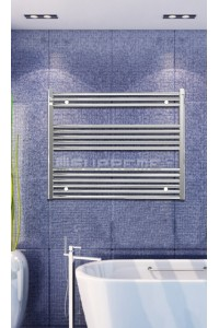 Electric Towel Radiator 1000mm Wide 800mm High Chrome Flat