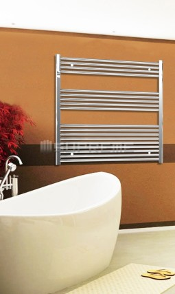 Electric Towel Radiator 1000mm Wide 1000mm High Chrome Flat