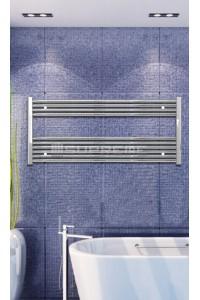 Electric Towel Radiator 1200mm Wide 600mm High Chrome Flat