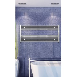 Electric Towel Radiator 1200mm Wide 600mm High Chrome Flat